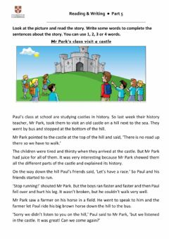 Interactive worksheet FLYERS reading and writing part 5