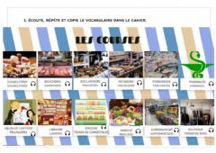 Interactive worksheet Les courses