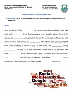 Interactive worksheet Advertisements