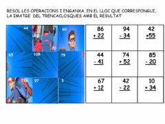 Interactive worksheet Puzle matemàtic