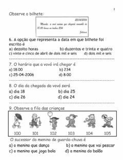 Interactive worksheet Uso dos numerais