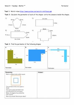 Interactive worksheet Week 9 - Tuesday - Maths --