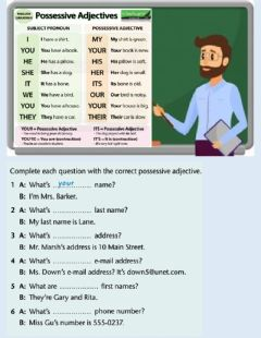 Interactive worksheet Possesives