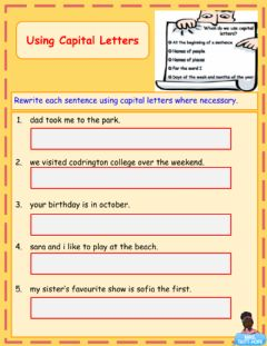 Interactive worksheet Using Capital Letters