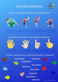 Interactive worksheet Ficha de lateralidad