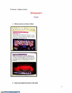 Interactive worksheet Vocabulary- Music