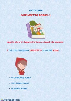 Interactive worksheet Cappuccetto Rosso-1