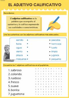Interactive worksheet El adjetivo calificativo