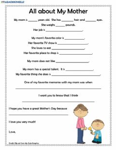 Interactive worksheet Mother's Day Letter