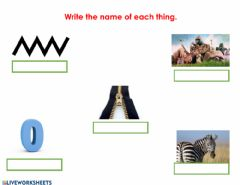 Interactive worksheet Letter Z