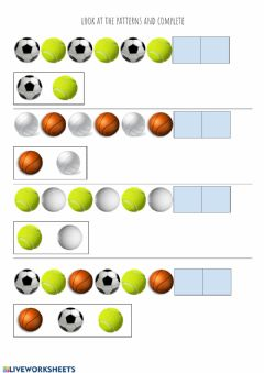 Interactive worksheet Pattern balls