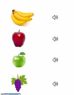Interactive worksheet SECONDARY COLORS AND FRUITS