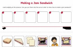 Ficha interactiva Sandwich making
