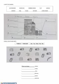 Interactive worksheet There is , there are