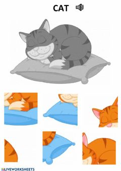 Interactive worksheet Cat puzzle