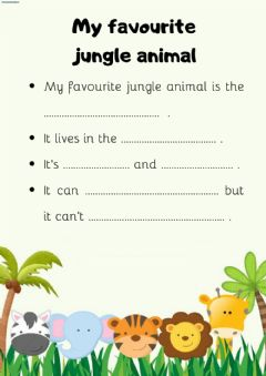 Interactive worksheet What's your favourite animal?