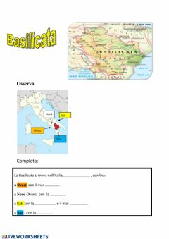 Interactive worksheet Basilicata