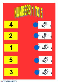 Interactive worksheet Numbers 1 to 5