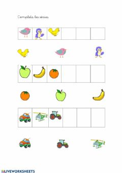 Interactive worksheet Sèries