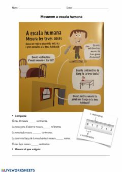 Interactive worksheet Mesurem a escala humana