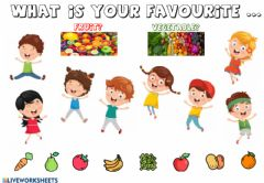 Interactive worksheet My vafourite fruits and vegetables