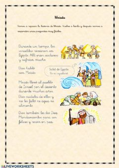 Interactive worksheet Moisés 1º