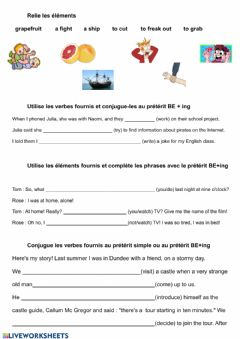 Interactive worksheet Preterit