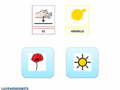 Interactive worksheet Color amarillo