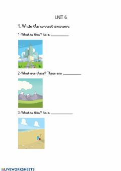 Interactive worksheet Vocabulary unit 6
