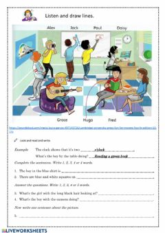 Interactive worksheet Kids4
