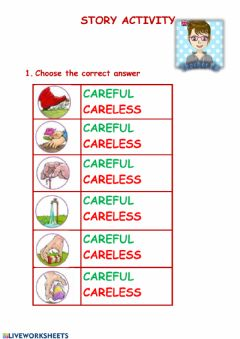 Interactive worksheet The careless giant