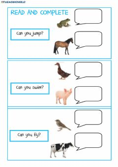Interactive worksheet Can you ?