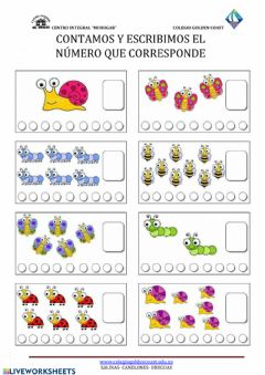 Interactive worksheet Cuento y completo