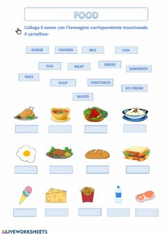 Interactive worksheet Food-exercise2