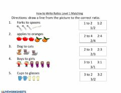 Interactive worksheet How to Write Ratios