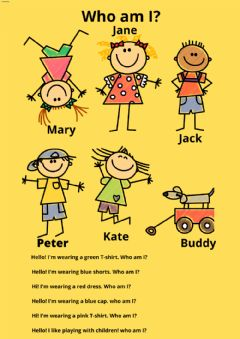 Interactive worksheet CLOTHES - WHO AM I?