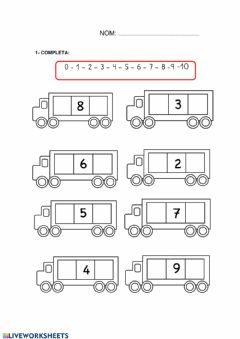 Interactive worksheet Numeració 1 al 10