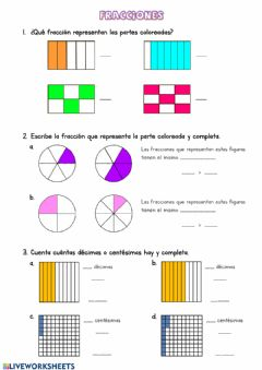 Interactive worksheet Fracciones