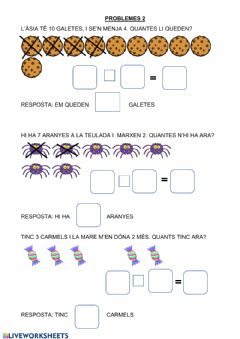 Interactive worksheet Problemes visuals 2