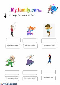 Interactive worksheet My family can