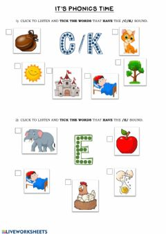 Interactive worksheet Phonics Group 2 (c-e)