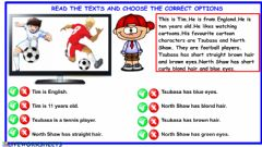 Interactive worksheet 4.9.My Friends Reading