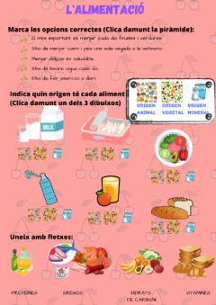 Interactive worksheet L'alimentació