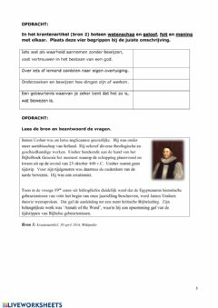 Interactive worksheet Evolutie de mens