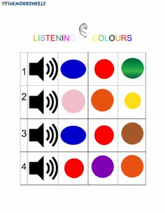 Interactive worksheet Listening colours