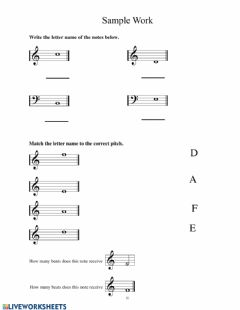 Interactive worksheet Music