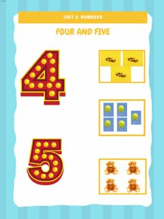 Interactive worksheet Numbers - 4 and 5
