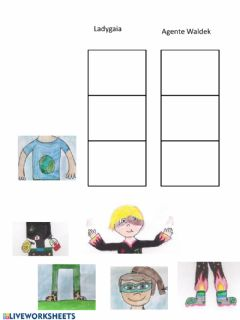 Interactive worksheet Ricomponi i personaggi
