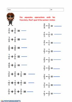 Interactive worksheet Operacions amb decimals - 1