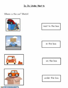 Interactive worksheet Where is the car?